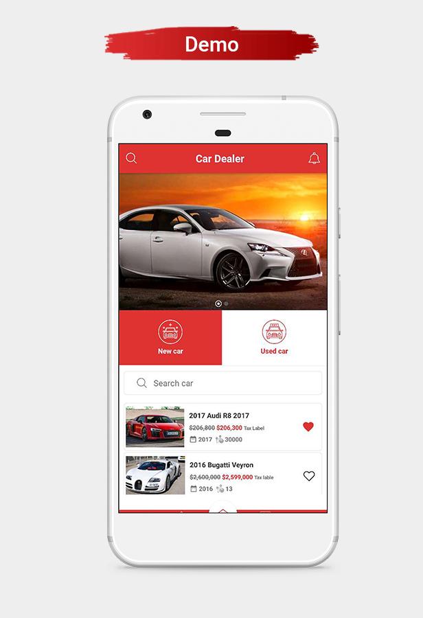 Car Dealer Native Android Application - Java - 2