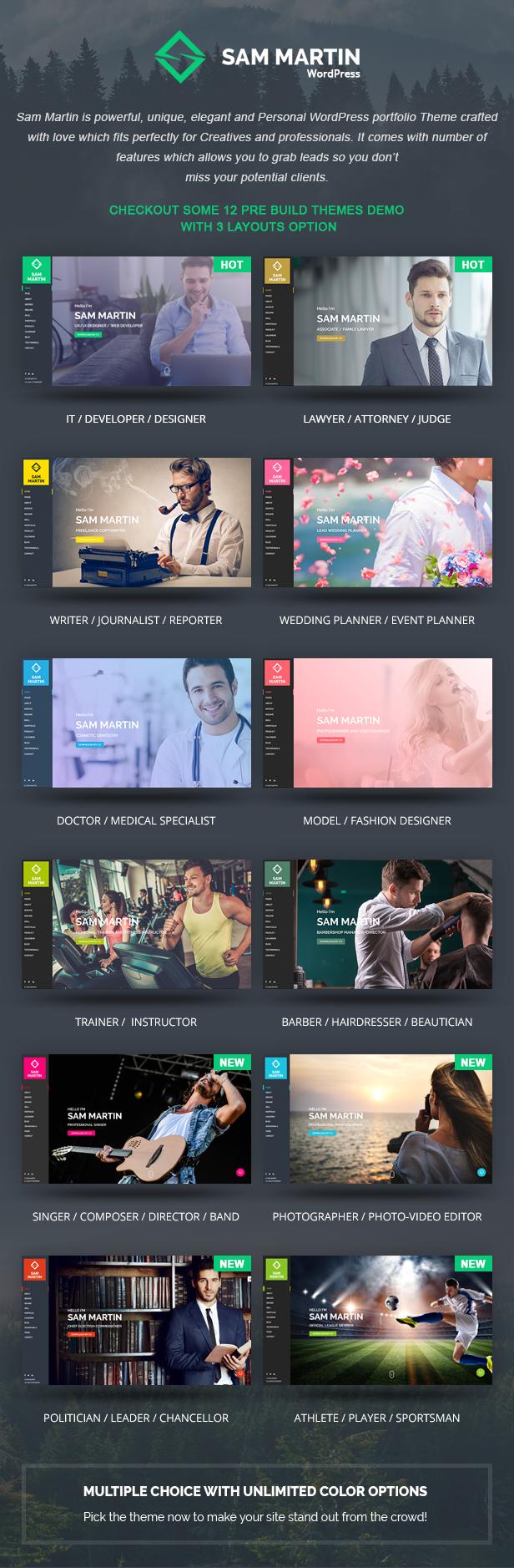 Sam Martin - Personal vCard Resume WordPress Theme - 5