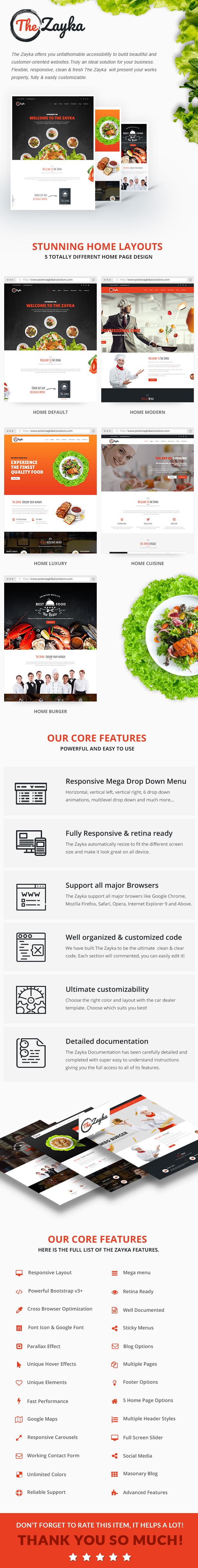 The Zayka - Multipurpose Restaurant & Cafe HTML5 Template - 2
