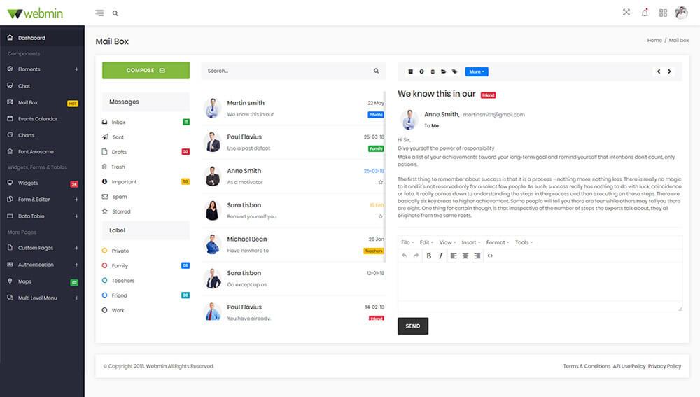 Webmin - React JS Admin Dashboard Template