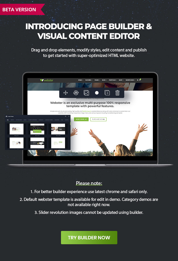 Webster - Responsive Multi-purpose HTML5 Template - 3
