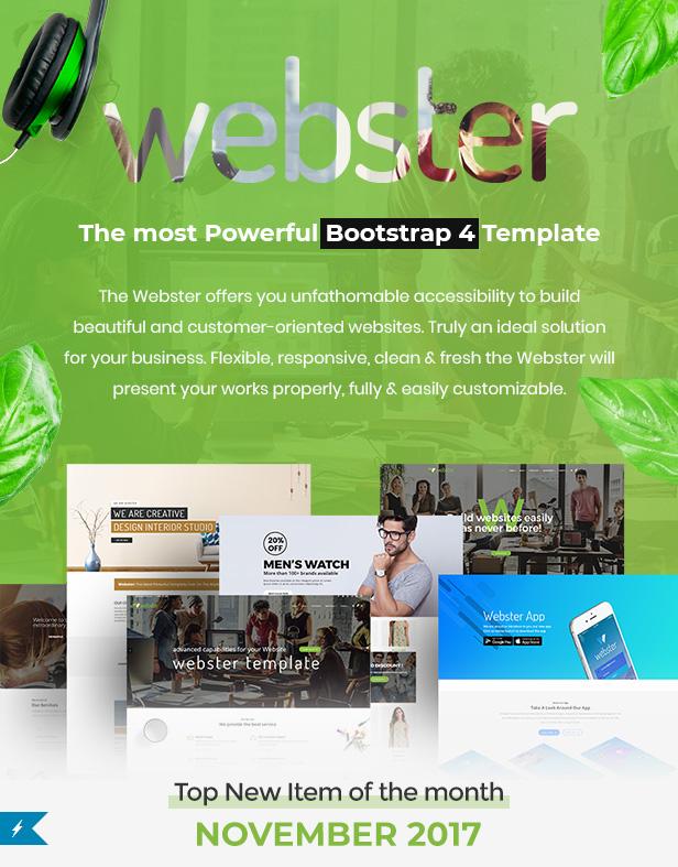 Webster - Responsive Multi-purpose HTML5 Template - 4