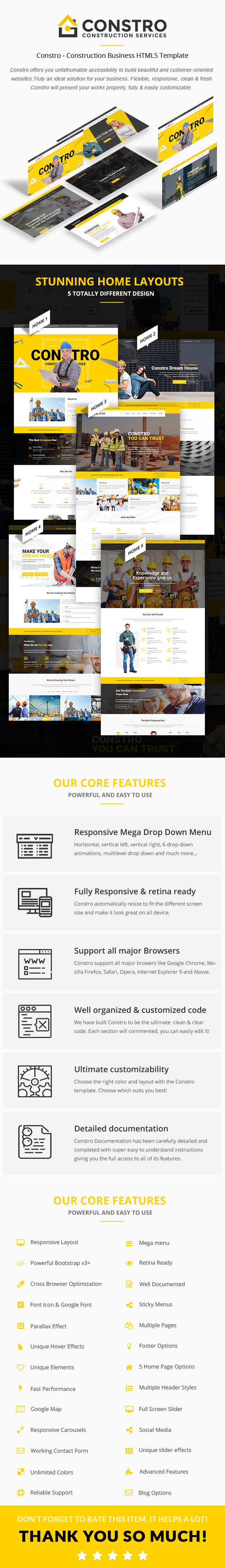 Constro - Construction Business HTML5 Template - 2