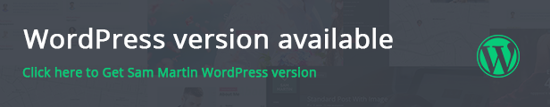 Sam Martin - Personal vCard Resume HTML Template - 1
